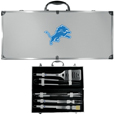 Detroit Lions 8 pc Stainless Steel BBQ Set w/Metal Case
